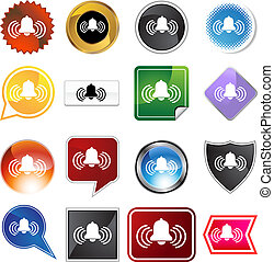 alarm variety set - alarm icon isolated on a white...