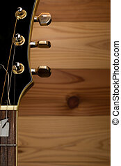 Acoustic Guitar Headstock - An acoustic guitar headstock...