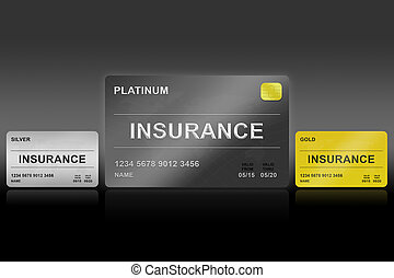 insurance platinum card on black background