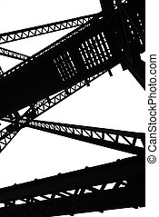 Vertical Abstract Steel Girders - Abstract steel framing...