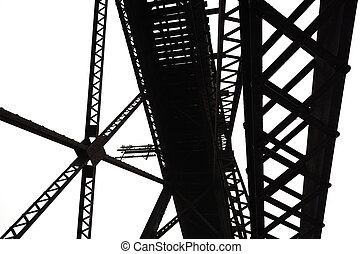 Abstract Steel Girders - Abstract steel framing built in the...