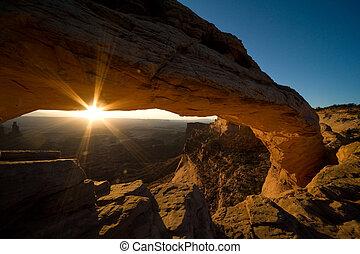 Sunrise at Mesa - Mesa Arch, canyonlands