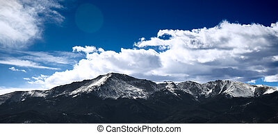 pikes peak with some snow