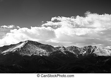 Pikes Peak - pikes peak with some snow