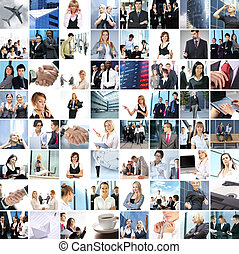 Great collage made of about 250 different business photos