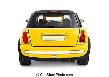 Toy car - Yellow model car - back view