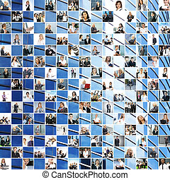 Great business collage made of 225 different pictures and...