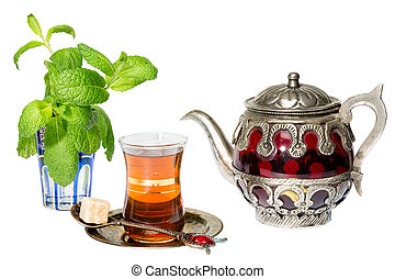 Arabian mint tea - Mint tea is a traditional Arabian...