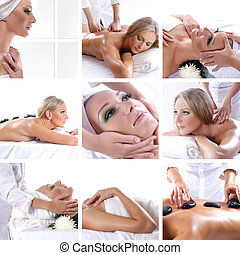Collage about beauty, spa and health care