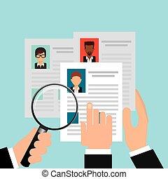 search job design, vector illustration eps10 graphic