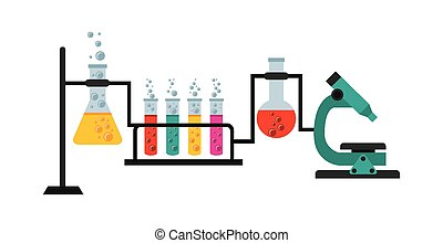 scientific laboratory design, vector illustration eps10...