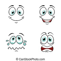cartoon face design, vector illustration eps10 graphic