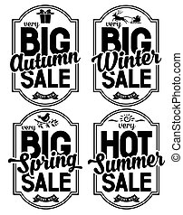 Seasonal Sale - Advertisement about the seasonal summer,...