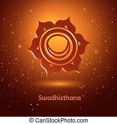 Swadhisthana chakra. - Vector illustration of Swadhisthana...
