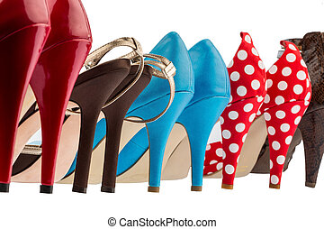 shoes with high heels - different colored shoes with hiohen...