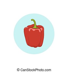 Icon red bell pepper,sweet pepper or capsicum - Icon red...