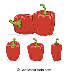 Red bell pepper,sweet pepper or capsicum - Red bell...