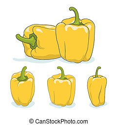 Yellow bell pepper,sweet pepper or capsicum - Yellow bell...