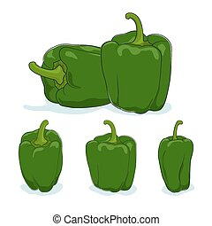 Green bell pepper,sweet pepper or capsicum - Green bell...