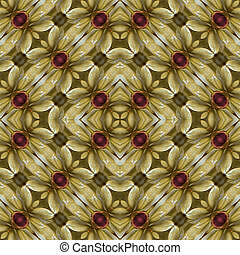 Modern Floral Pattern - Digital style collage technique...