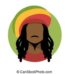 Rastafarian man. - Vector illustration of rastafarian man.