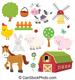 Farm Set - Collection of cute farm animals and stuff