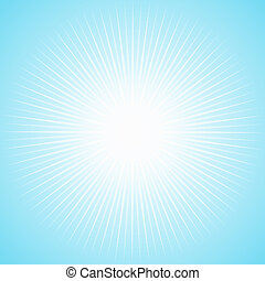 White sun with long thin rays