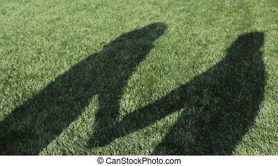 Couple Kissing Shadow