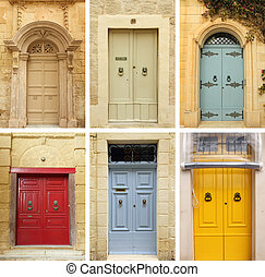 elegant old doors collection , images from Malta and Gozo...