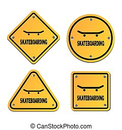skateboarding signs - suitable for illustrations