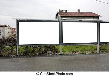 2,5 Blank Billboard Two and Half - Including clipping path