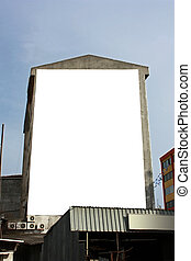 Blank Big Vertical Wallscape Billboard - Including clipping path around blank area
