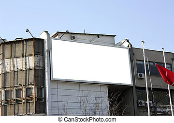 Blank Billboard - Including clipping path
