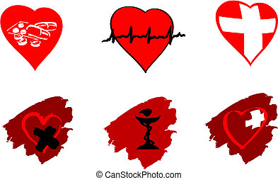 Medicine icons and signs