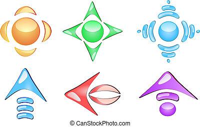 Arrow glossy icons