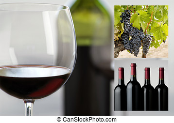 wine photo collage - simple layout of wine industry images