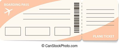 Air ticket - Blank plane ticket for business trip travel or...