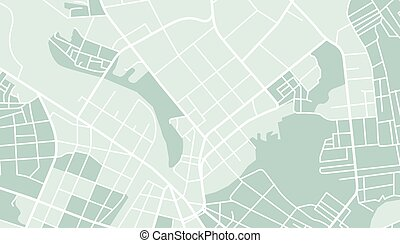 City map - Editable vector street map of town Vector...