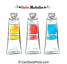 Paint tubes.
