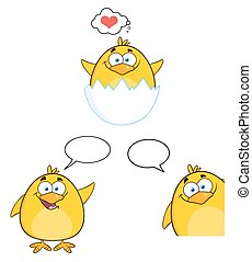 Funny Yellow Chick 3. Collection