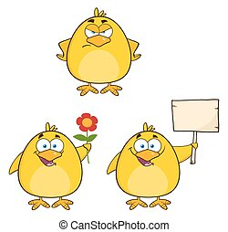 Funny Yellow Chick 4. Collection