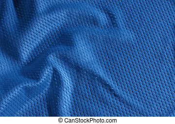 Blue football Jersey - Close up shot of blue textured...