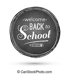 Back to School banner. - Back to school typographical banner...