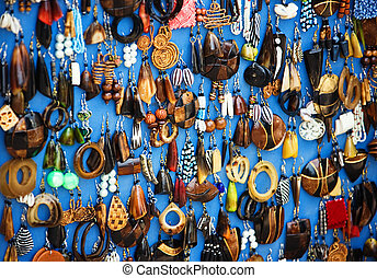 African jewelry - Traditional African jewelry earrings...