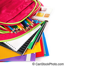 school backpack - schoolbag with supplies for education,...