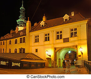 Michaels gate slovak: Michalska brana, famous landmark in...