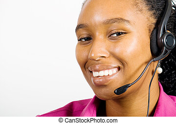 operator with headset - a telephone operator wearing a...