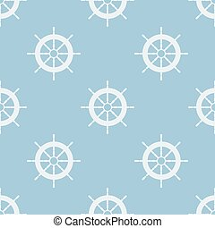 Seamless pattern with helm of ship. Vector illustration....
