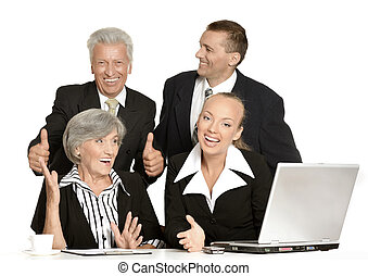 happy business people - Group of happy business people...