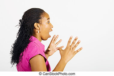 shocked african woman - a profile picture of a shocked...
